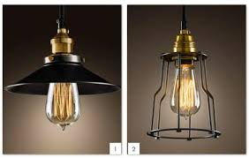 black pendant lighting industrial edison mini hanging l for
