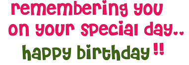 Free Happy Birthday Clipart For