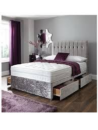 Gray Velvet King Headboard by Dorchester Led Winged Diamante Headboard Crushed Velvet Bed