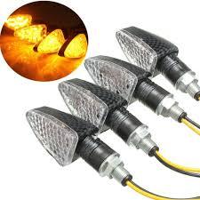 4pcs e motorcycle turn signal 15 led indicators light bulb