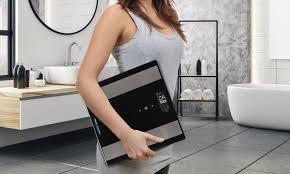 elektronische badezimmer waage in schwarz