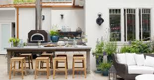 aménagement cuisine d été design exterieur cuisine d été extérieure ouverte terrasse bar