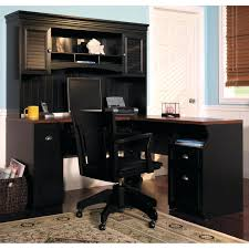 desk bush cabot l shaped desk with optional hutch and