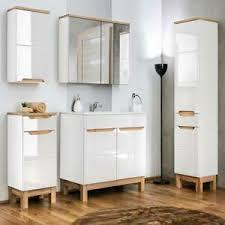 komplett badmöbel set 60cm keramik waschtisch spiegelschrank