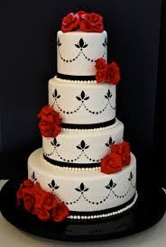 Collection Solutions Red And Black Wedding Cakes About Wedding Cake Designs Red Black And