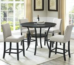 Espresso Dining Chairs Wood 5 Piece Set Finish Table