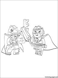 Lego Chima Cragger Battle Printable Page To Color