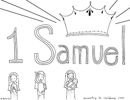 Kids Coloring Page From Whats In The Bible Featuring Saul And Throughout Samuel Pages