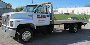 100 New Tow Trucks 1996 Chevrolet Kodiak Flatbed Tow Truck Item E5609 SOLD