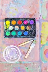 Easy Art Ideas For Kids Watercolor On Tile Artful Results That Will Fade Away