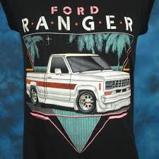 100 Commercial Truck Paper Vintage 80s FORD RANGER PICKUP TRUCK PAPER THIN MUSCLE TShirt SMALL