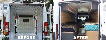 RV Camper Van COnversion Before And After