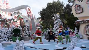 The Grinch Christmas Tree by The Grinch Invades Whoville During The Studio Tour Grinchmas 2015