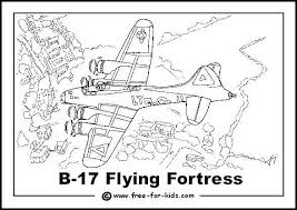 B17 Flying Fortress Colouring Page