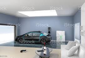 garage verbinden modernen interieur wohnzimmer stockfoto und mehr bilder ansicht oben