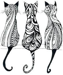 Printable Cat Coloring Pages For Adults Adult