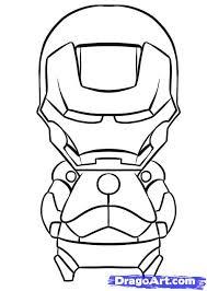 How To Draw Chibi Iron Man Step 7