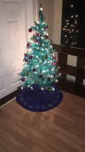 Fiber Optic Christmas Tree Walmart 6 by Holiday Time Pre Lit 4 U0027 Teal Blue Artificial Christmas Tree Clear