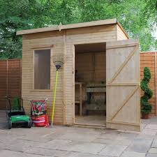 8x6 Wood Storage Shed by 8x6 Security Cabin Pent Shiplap Wooden Shed Departments Diy At B U0026q