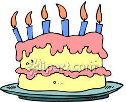0060 0909 2512 1720 Double Layer Birthday Cake With Candles clipart image