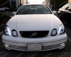 98 05 lexus gs300 gs400 gs430 chrome dual halo projector led