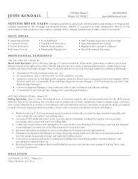 Sample Retail Sales Resume For Associate