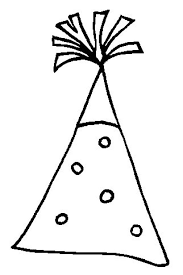 Birthday Party Hat Coloring Pages