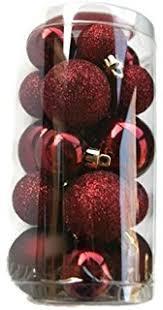 Holiday Time Miniature Christmas Tree Shatterproof Ornaments