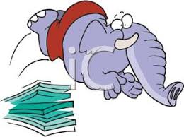Clipart Picture An Elephant Jumping Off A Diving Board