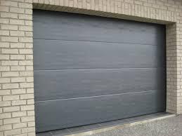 porte de garage sectionnelle lisse grise smf services smf services