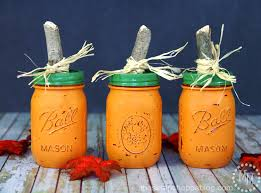 Glow In The Dark Plastic Pumpkins by Diy Pumpkin Jars The Scrap Shoppe