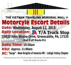 Escort | Traveling Vietnam Wall - Bath, PA Lehigh Valley Northampton ... Operation Patriot Bandoleer 2017 Features The National Guard 4 Hurt In Pulaski Co Truck Wreck Virginia Accident Bleeding Edge Technology At A Wendys Route 81 Stop Rubiks Cube Tutorials And More Home Facebook I Carlisle Best Image Of Vrimageco Rest Area Wikipedia Buddy Thunderstruck Ziels Stoptd Teedep Glade Spring Va 42811 Tornado Petro Exit Flickr Stops Near Me Trucker Path Bearritos Food Trucks Today Aessment Remediation