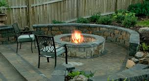 Brick Outdoor Fireplace With Charming Outdoor Round Brick