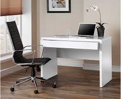 Luxor Gloss Workstation/Desk With Hidden Drawer White