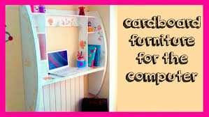 DIY Crafts How to Make a Cardboard Furniture for puter Tutorial