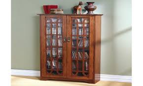 glass cabinet Tall Media Storage Cabinet Glass Door Doors With