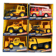 Adventure Force Mini Die-cast Construction Vehicles Set With Bonus ...