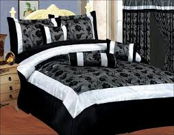 Bedroom Marvelous Black And White Bedspreads Full Black White