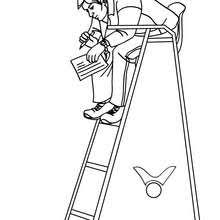 Volleyball Forearm Pass Referee Coloring Page