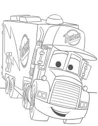 Cars The Movie Coloring Pages Rapunzel