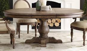 Contemporary Rustic Round Dining Table With Leaf Room Leaves Built In Oajtnmh