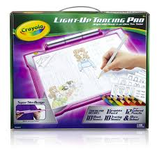 crayola light up tracing pad pink coloring board
