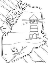 Maine Coloring Page By Doodle Art Alley