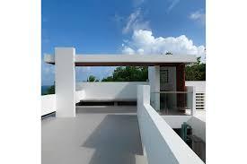 3 Munding Exterior Rooftop Courtyard Modern Caribbean Villa