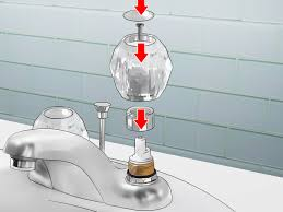 How To Repair A Leaky Kitchen Faucet How To Fix A Bathroom Faucet 14 Steps With Pictures Wikihow