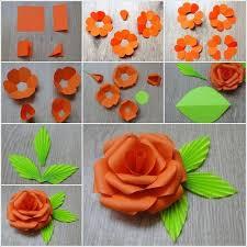 Paper Handicraft Flower Step By Easy Handicrafts Making Google Search Pretty