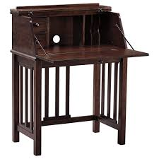 Drop Front Writing Desk by Home Office Drop Front Desk With Mission Style Slats By Signature
