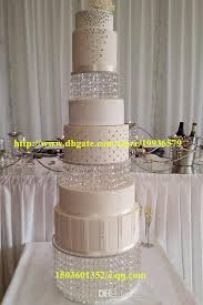 Acrylic Crystal Chandelier Wedding Round Cake Stand 3 Tier Dessert For Stylish House Stands Plan