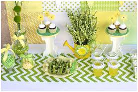 Spring Baby Shower Daisy Dessert Table