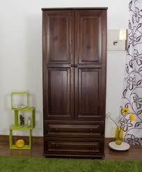 holzschrank kleiderschrank schlafzimmerschrank farbe nuss 190x80x60 cm